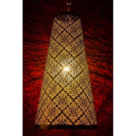 Surreal etched antique gold hanging light3