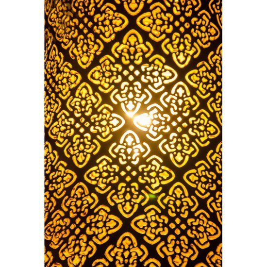 Surreal etched antique gold hanging light1