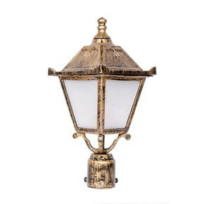 Vintage Antique Golden Small Outdoor Pole Light Gate Light