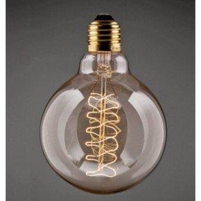 Vintage Small Globe Helix Filament Bulb
