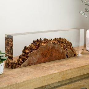 Jarrah & Acrylic Sculpture