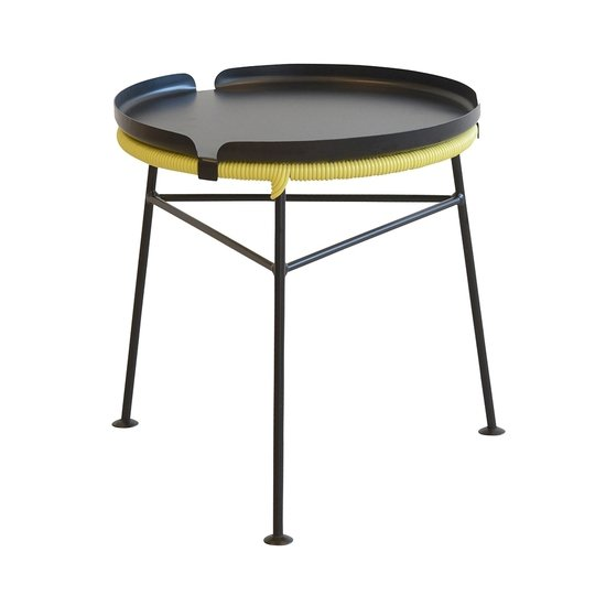 Cut out centro yellow tray black