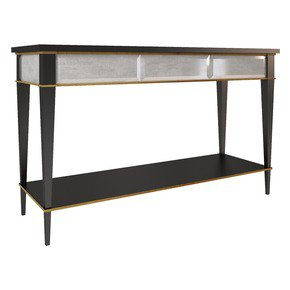 Bimi Rectangular Console Table with Shelves - Mari Ianiq - Treniq