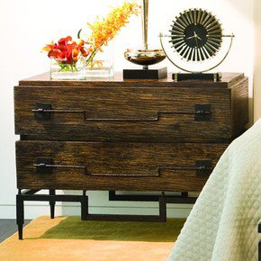 3 Drawer Wide Chest-Dark Brushed Mango