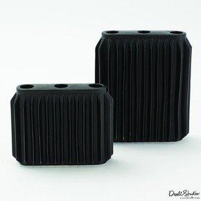 Andros Vase-Matte Black-Sm
