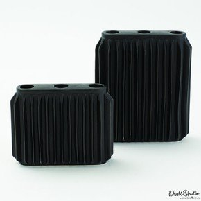 Andros Vase-Matte Black-Lg