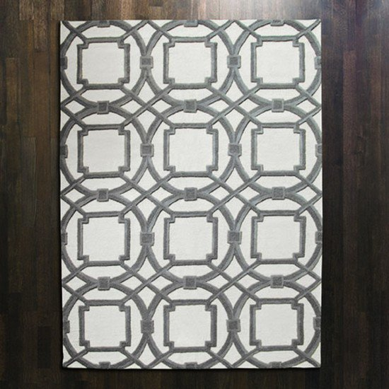9.91757  arabesque rug grey ivory 5' x 8'