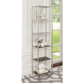 Arbor Etagere-Nickel & Black Granite