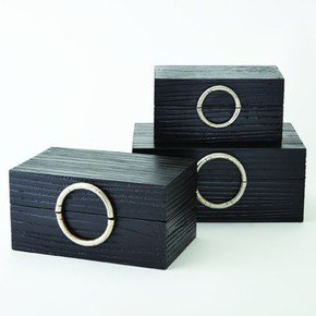 Artisan Jewelry Box-Black/Nickel-Lg