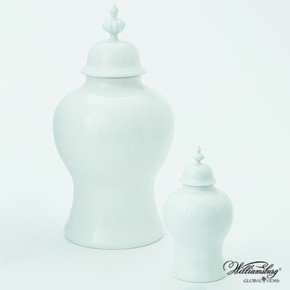 Beaufort Ginger Jar-White-Lg