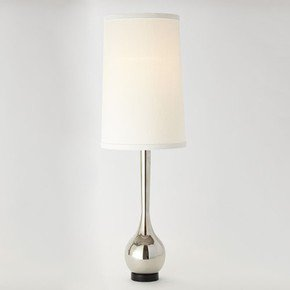 Bulb Vase Lamp-Nickel