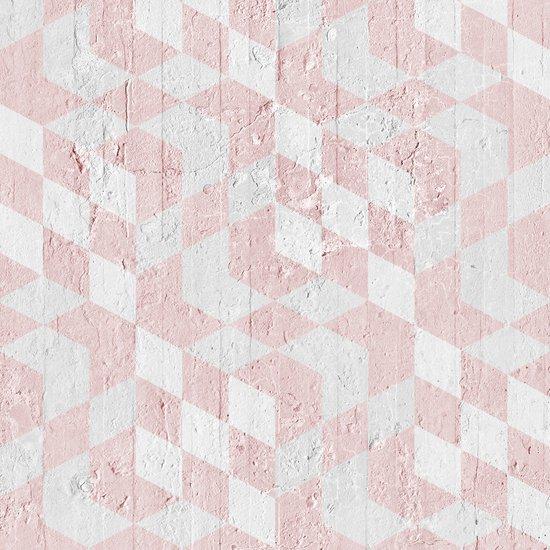 Pink optical cubes wallpaper mineheart treniq 1 1553953463097