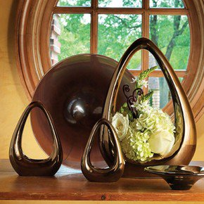 Carry About Vase-Bronze-Lg