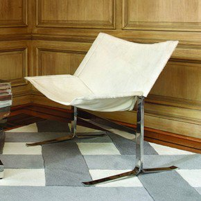 Cantilever Chair-Hair-On-Hide-White