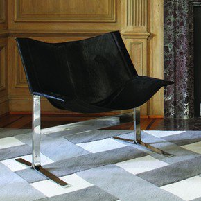 Cantilever Chair-Hair-On-Hide-Black