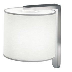 Aluminium wall light with cotton shade