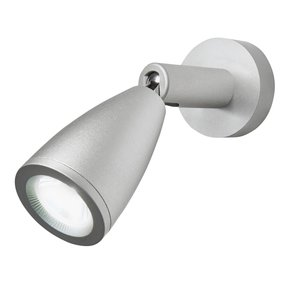 Aluminium LED reading light with tapered head