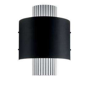 Art deco style polished aluminium wall light