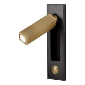 Black bronze with English brass LED wall light with docking and push button switch