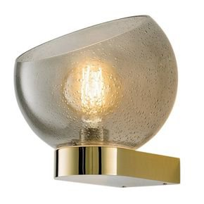 Brushed brass and glass wall light