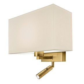 Combination-Wall-Light-With-Led-Reading-Light-In-Brushed-Brass_Lightology-Lighting-_Treniq_0