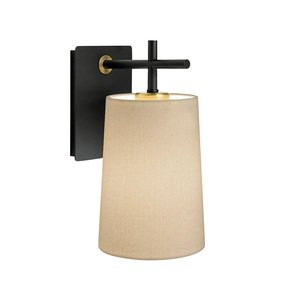 Satin-Black-And-Brushed-Brass-Wall-Light-With-Shade_Lightology-Lighting-_Treniq_0
