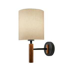 Satin-Black-And-Walnut-Wall-Light-With-Shade_Lightology-Lighting-_Treniq_0