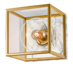 Polished-Brass-Wall-Light-With-Mouth-Blown-Glass-And-Faux-Marble-Backplate_Lightology-Lighting-_Treniq_0
