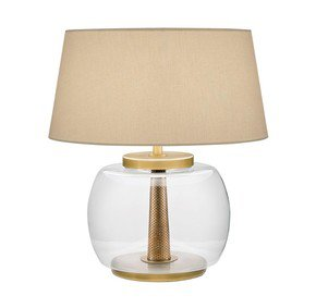 Oslo-Clear-Rounded-Glass-With-English-Brass-Lamp-With-Shade_Lightology-Lighting-_Treniq_0