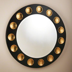 Domino-Round-Mirror-Black/Gold-Leaf_Bas-Global_Treniq_0