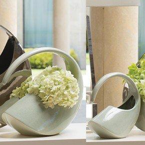 Cleopatra Vase-Celadon Crackle-Lg