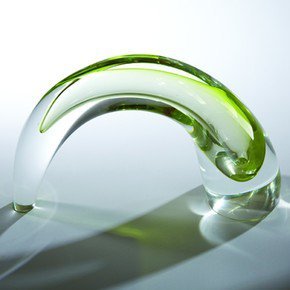 Comma Vase-Lime