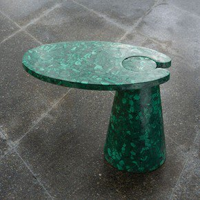 Cone Cantilever Table-Malachite