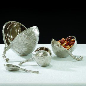 Chestnut Bowl-Nickel-Lg