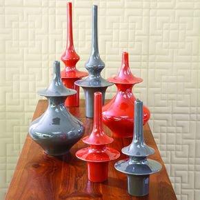 Minaret Vase-Grey-Lg