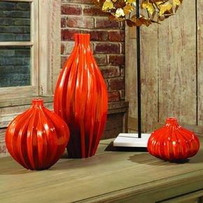 Squash Vase-Orange-Lg