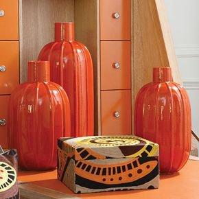 Melon Vase-Orange-Sm