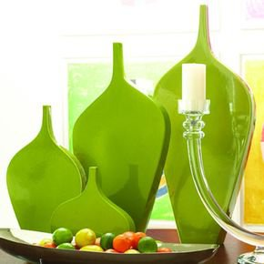 Guitar Vase-Green-Med