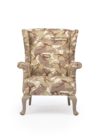 The army desert camo wing chair. rhubarbchairs treniq 1 1557252647229