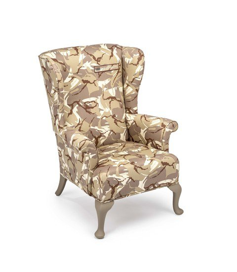 The army desert camo wing chair. rhubarbchairs treniq 1 1557252682118