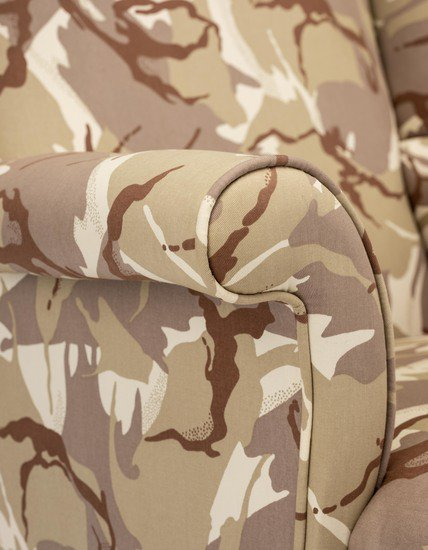 The army desert camo wing chair. rhubarbchairs treniq 1 1557252686614