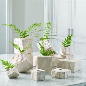 Rocky Block Vase-Flat-Sm