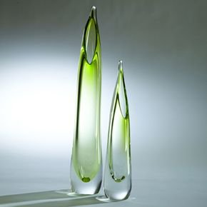 Stalagmite Vase-Lime-Lg