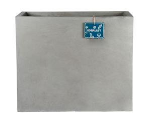 Raised Narrow Contemporary Light Concrete Grey Trough Planter 71823
