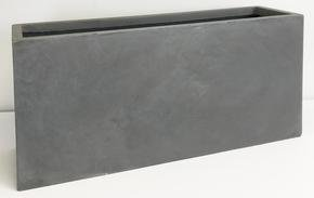 Contemporary Light Concrete Grey Trough Planter 71832