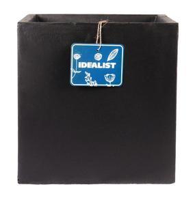 Square Box Contemporary Black Light Concrete Planter71855