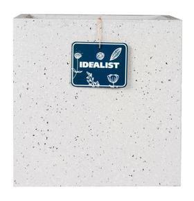 Square Box Contemporary Grey Marble Light Concrete Planter71859