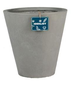 Round Contemporary Grey Light Concrete Planter71929