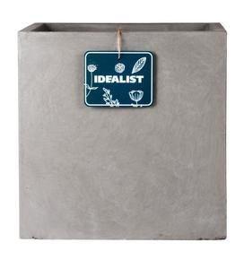 Square Box Contemporary Grey Light Concrete Planter71931