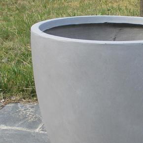 Contemporary Stone Grey Light Concrete Egg Planter74671